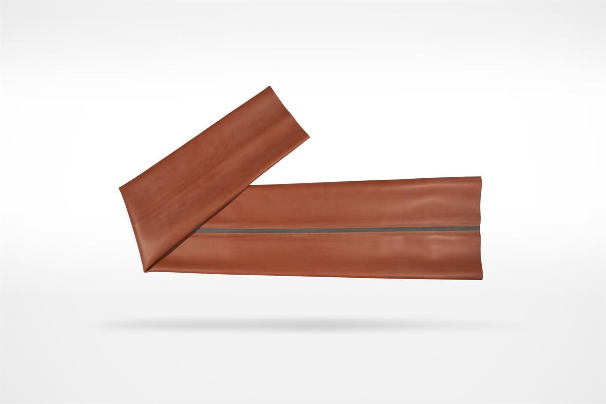 Tubolare in gomma anticalore max 130°sp.1 mm dimensione appiattita mm 180x270x1350 colore rosso.